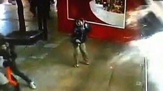 Shark tank explodes at mall