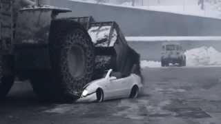 Bosses Mercedes Clk Crushed By Giant Loader By Fired Employee