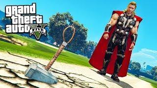 ТОР: РАГНАРЁК ИЩЕТ ХАЛКА В ГТА 5 МОДЫ! ОБЗОР МОДА В GTA 5 веселая видео игра как мультик для детей