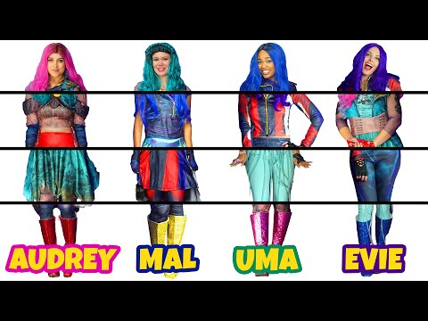 descendants-3-clothes-switch-up-mystery-box-challenge.-mal,-evie,-uma-&-audrey.-totally-tv-parody.