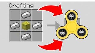 How To Make a FIDGET SPINNER in Minecraft!! // Minecraft FIDGET SPINNER