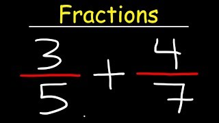 Fractions Basic Introduction - Adding, Subtracting, Multiṗlying & Dividing Fractions