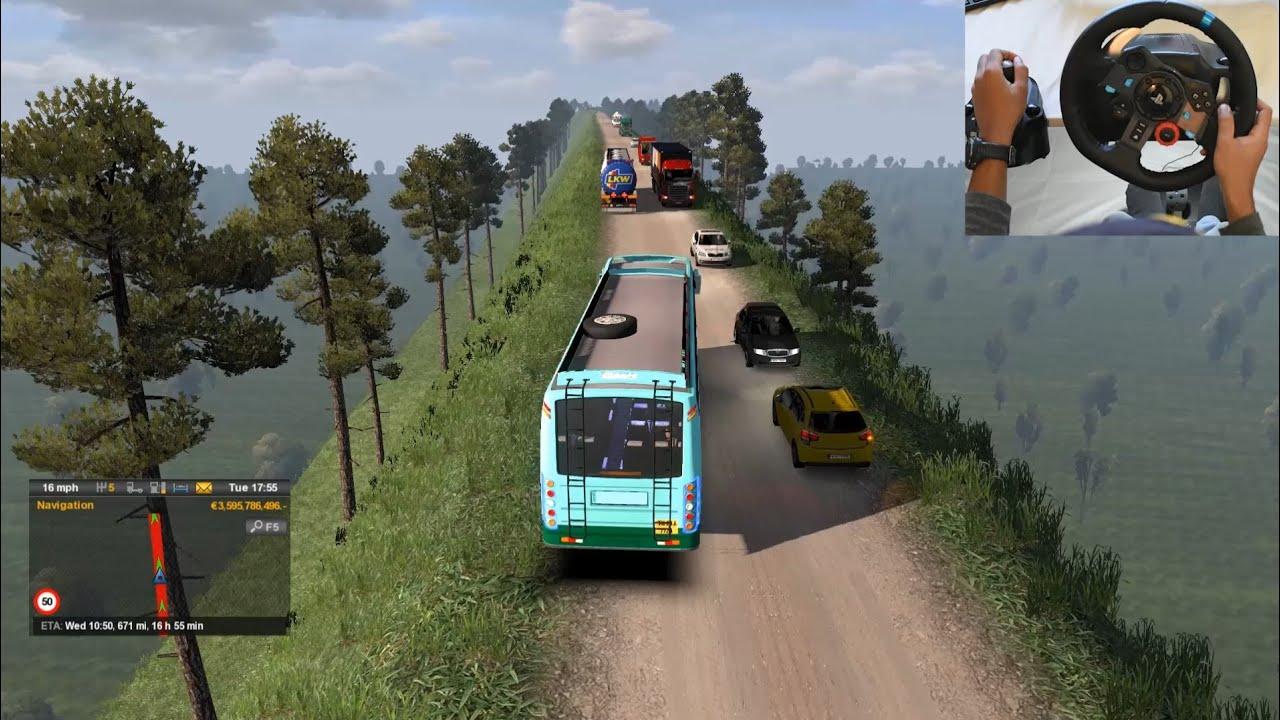 setc maruti bus on dangerous road euro truck simulator 2 with bus mod youtube. Black Bedroom Furniture Sets. Home Design Ideas