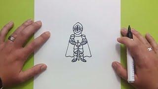 Como dibujar a una armadura paso a paso | How to draw a Armour