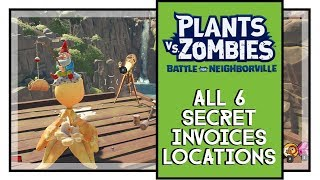 Plants VS Zombies BFN All Secret Invoices Locations (Yes You Can Dig It Medal)