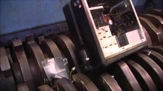 Repeat youtube video SSI Model 2400H Portable Shredder Electronic Waste Shredding Demo