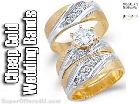 His And Hers Wedding Band Sets Matching Bands Plain Gold You
