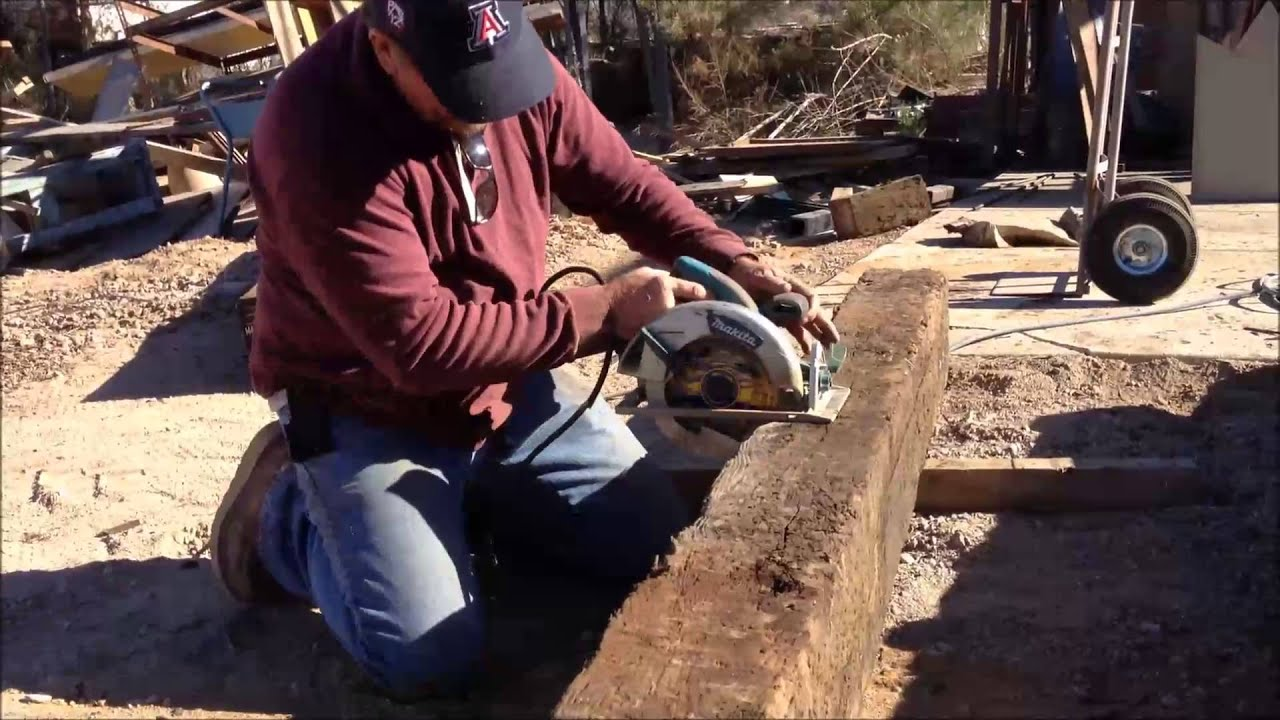 Cutting A Railroad Tie