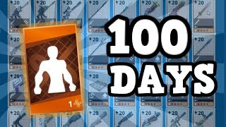 100 DAYS OF FORTNITE | FREE legendary hero and my mythic/legendary collection