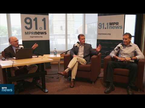 Jeff Johnson and Tim Pawlenty debate at MPR