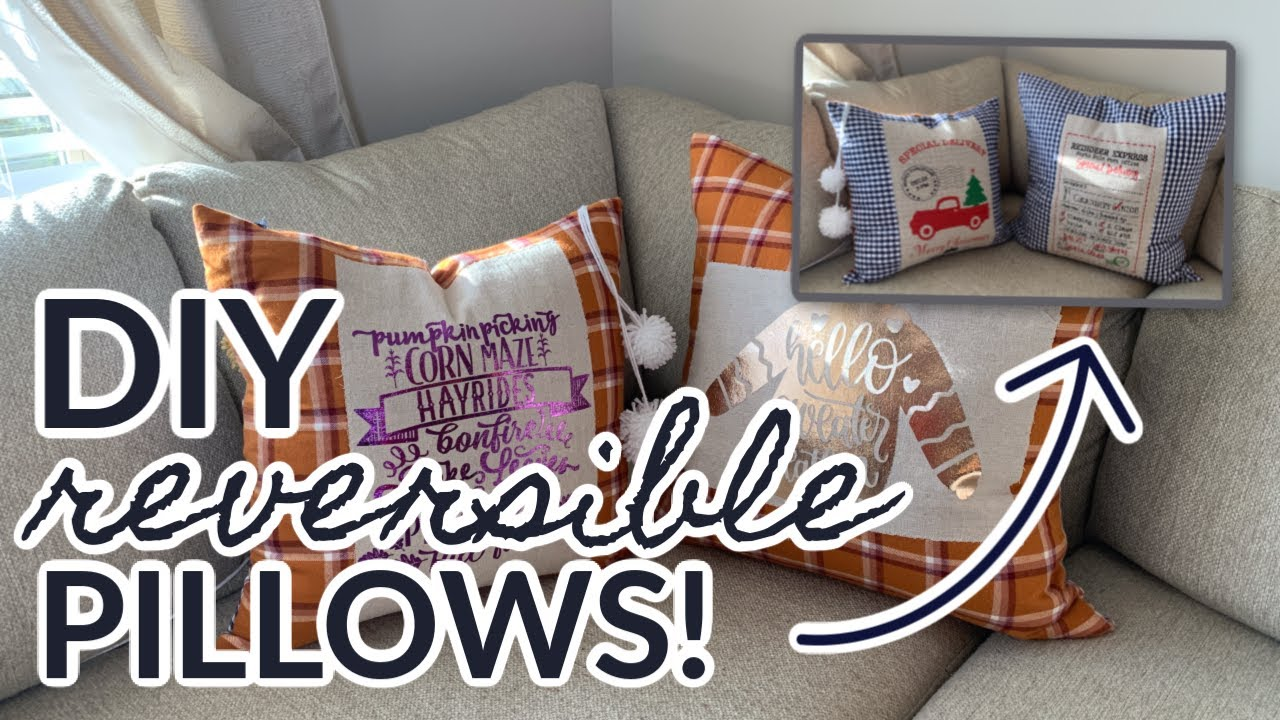 DIY Reversible Holiday Pillow Tutorial  |  Fabric Scrap Buster