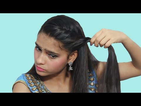 side partition college hairstyles || clutcher/shadi/openhair hairstyles for short hair/long hair