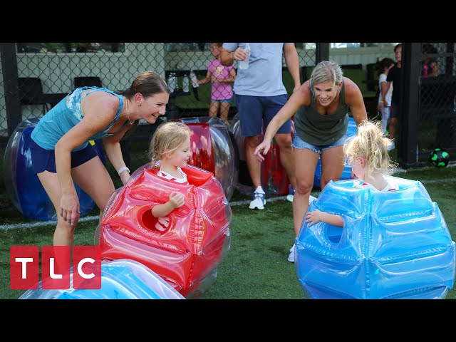 The Busbys Play Bubble Ball!   OutDaughtered
