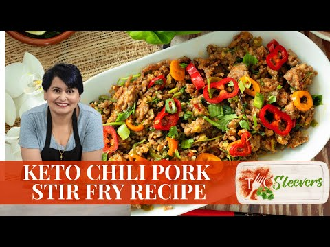 Keto Spicy Ground Pork Stir Fry Recipe | 20 Minute Keto Recipe