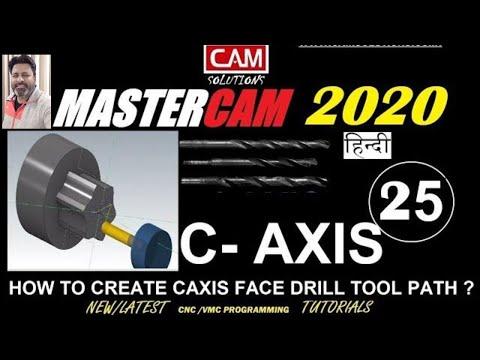 C Axis Programming in Mastercam Lathe: Face Drilling | Mastercam 2020 thumbnail