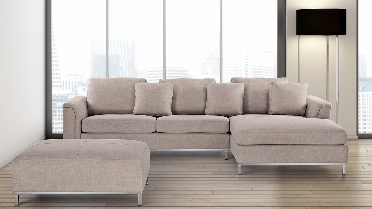 sofa canap oslo beliani youtube. Black Bedroom Furniture Sets. Home Design Ideas