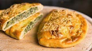Закрытый пирог с начинкой из шпината и творожного сыра   Ricotta and spinach calzone