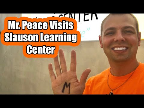 Mr. Peace Visits Slauson Learning Center in Los Angeles, California