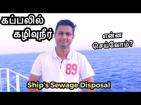 கப்பலில் கழிவுநீரை என்ன செய்வோம் | Cargo ship sewage disposal | Sailor Maruthi