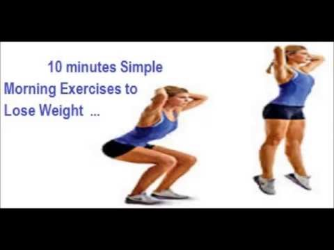 10 minutes simple morning exercises to lose weight  youtube