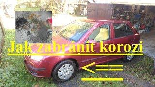 Jak zabránit korozi prahů, blatníků a podběhů Škoda Fabia1, Octavia 1
