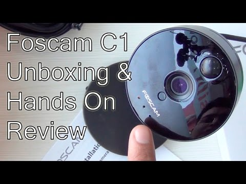 Foscam C1 HD Wireless IP Camera Unboxing, Setup And Hands On Review