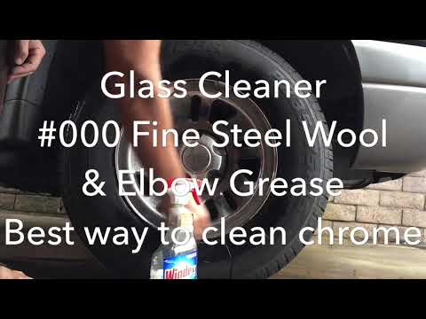 Best and easiest way to clean chrome rims or any chrome.