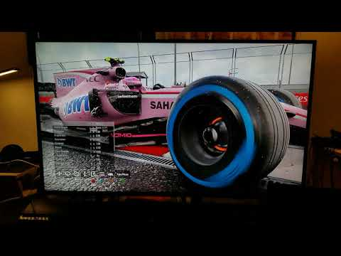 F1 2017 PC Native 4K Ultra Settings on TCL Roku TV 55p605