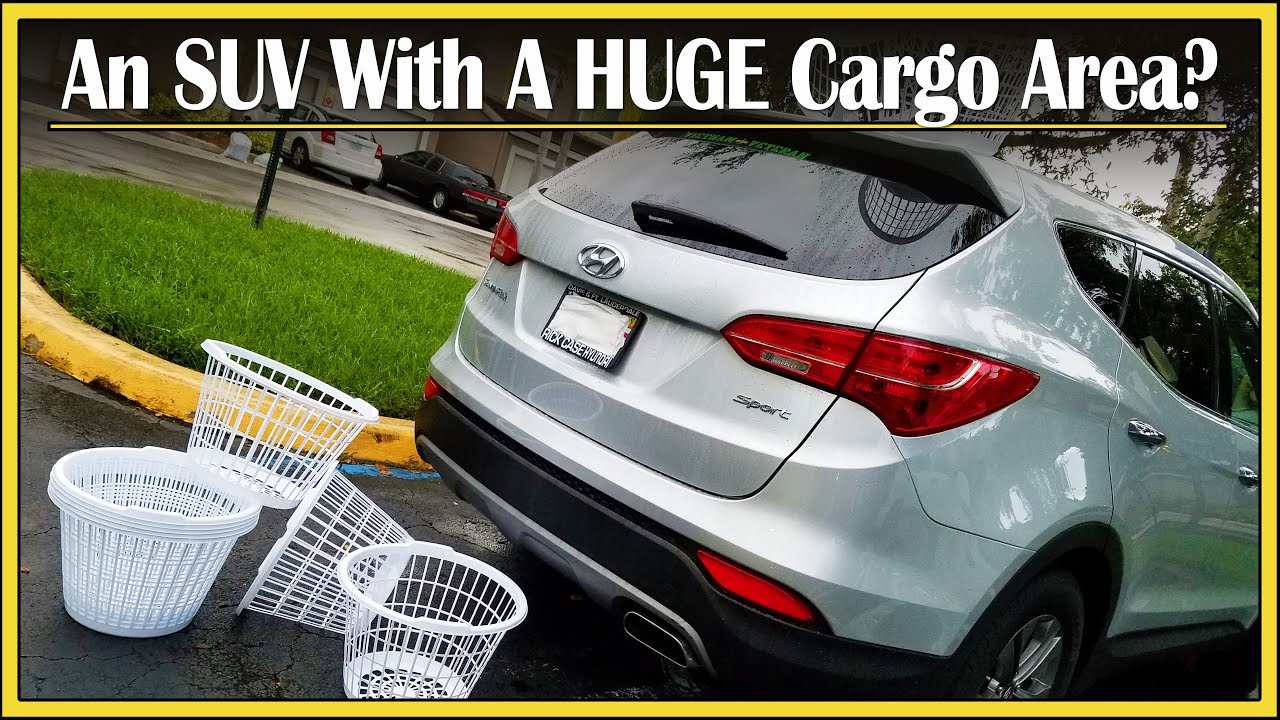 2013 2018 Hyundai Santa Fe Sport Cargo Capacity Review How Much Stuff Can Fit In That Trunk Youtube