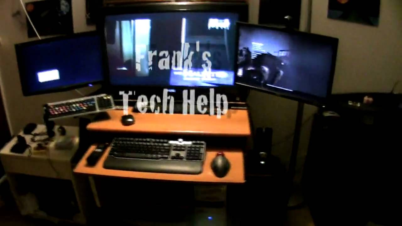 My Geek Gaming Production Desk V1 Lcd 32 22 20 Video Editing Pc Ps2 Macbook You