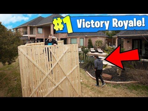 Building a FORTNITE Base IRL .. ( Fortnite: Battle Royal! in REAL LIFE )