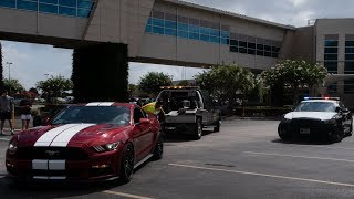 Mustang Driver GETS ARRESTED for BURNOUT at Cars and Coffee Houston!!! ( CAR TOWED)