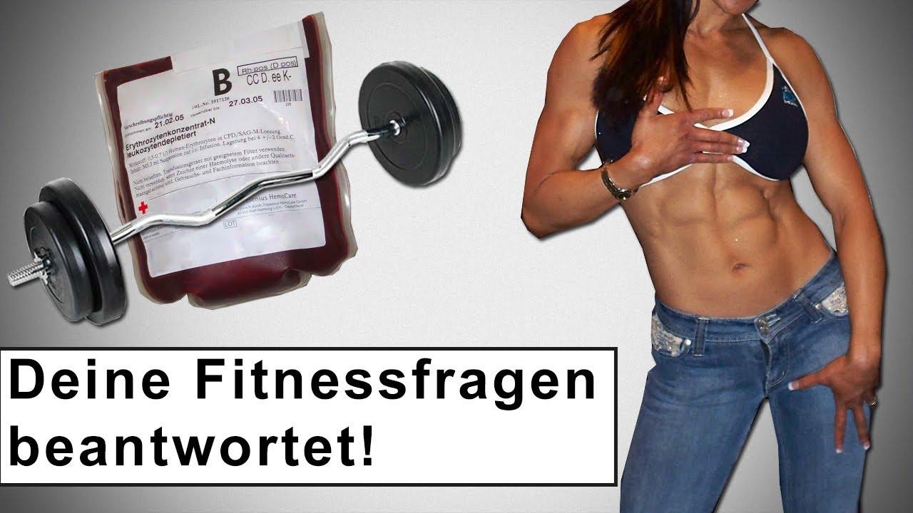 Top Sixpack bei Frauen? Wann Hantelgewicht steigern? Blutspenden und #GQ_49