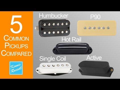 Single Coil vs Humbucker vs P90 vs Hot Rail vs Active Pickups Compared
