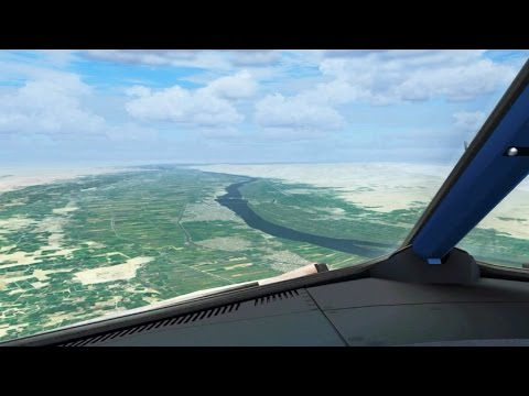 Luxor Landing ( Egyptair Airbus A320 Cockpit ) ( Flight Simulator X / FSX )