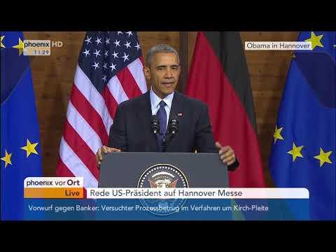 "Barack Obama in Hannover:  Rede ""To the People of Europe"" von Barack Obama am 25 04 2016 Deutsch"