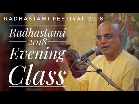 Evening Class |Radhashtami 2018 |HG Shyamananda Prabhu |ISKCON Chowpatty