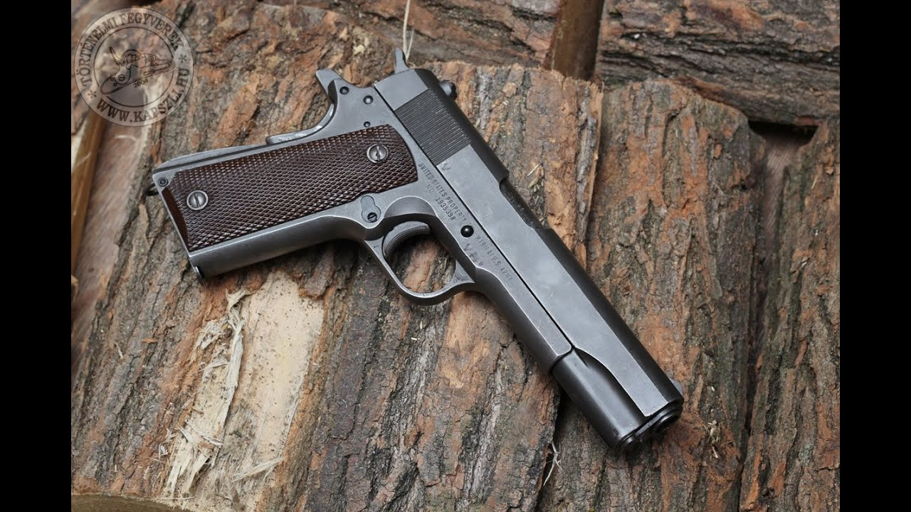 Shooting the World War II Colt 1911A1 45ACP pistol