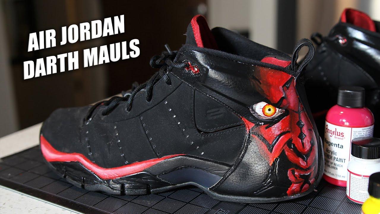 Custom Air Jordan Darth Mauls! How to