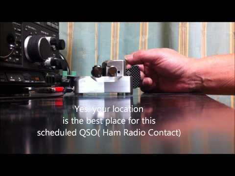 Ham Radio Contact using Morse Code