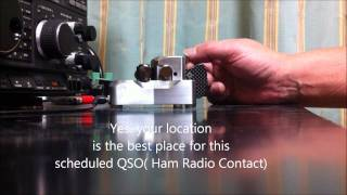 Ham Radio Contact using Morse Code
