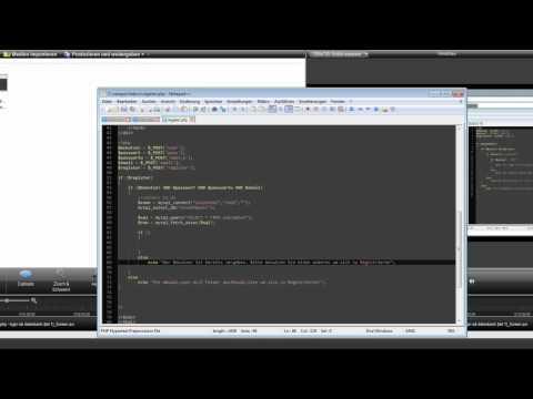 HTML & PHP - Registration (Teil 2)