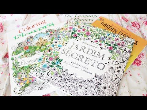 ♥-livros-de-colorir-para-adultos-♥-jardim-secreto,-floresta-encantada-e-etc...