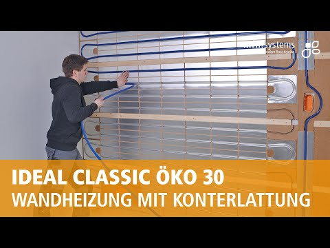 system ideal ko 30 montage als wandheizung youtube. Black Bedroom Furniture Sets. Home Design Ideas
