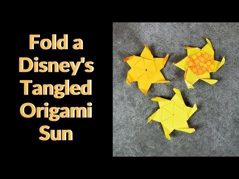 Origami Sun From Disneys Tangled Youtube