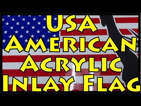 United States American Flag: Custom Laser Cut Acrylic Inlay
