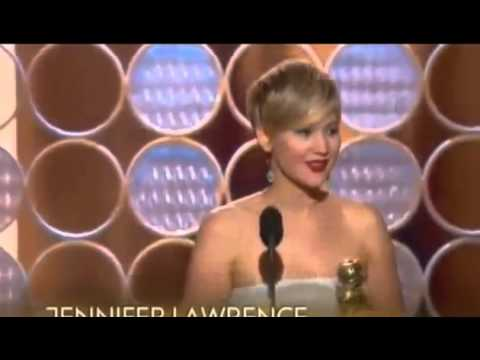 Jennifer Lawrence WINS Best Supporting Actress Golden Globe Awards 2014 - American Hustle