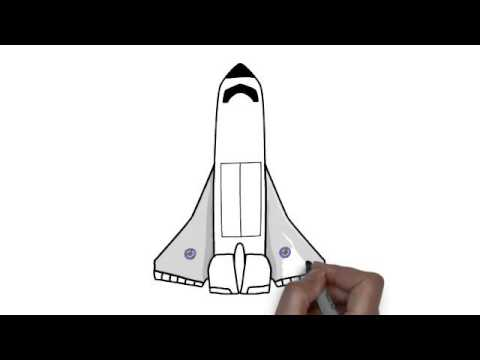 Learn to draw a space shuttle in 60 sec - YouTube