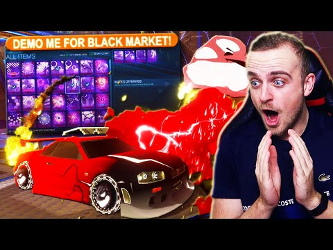 """I Changed my Name to """"DEMO ME FOR A BLACK MARKET"""" in Rocket League & Then THIS Happened..."""