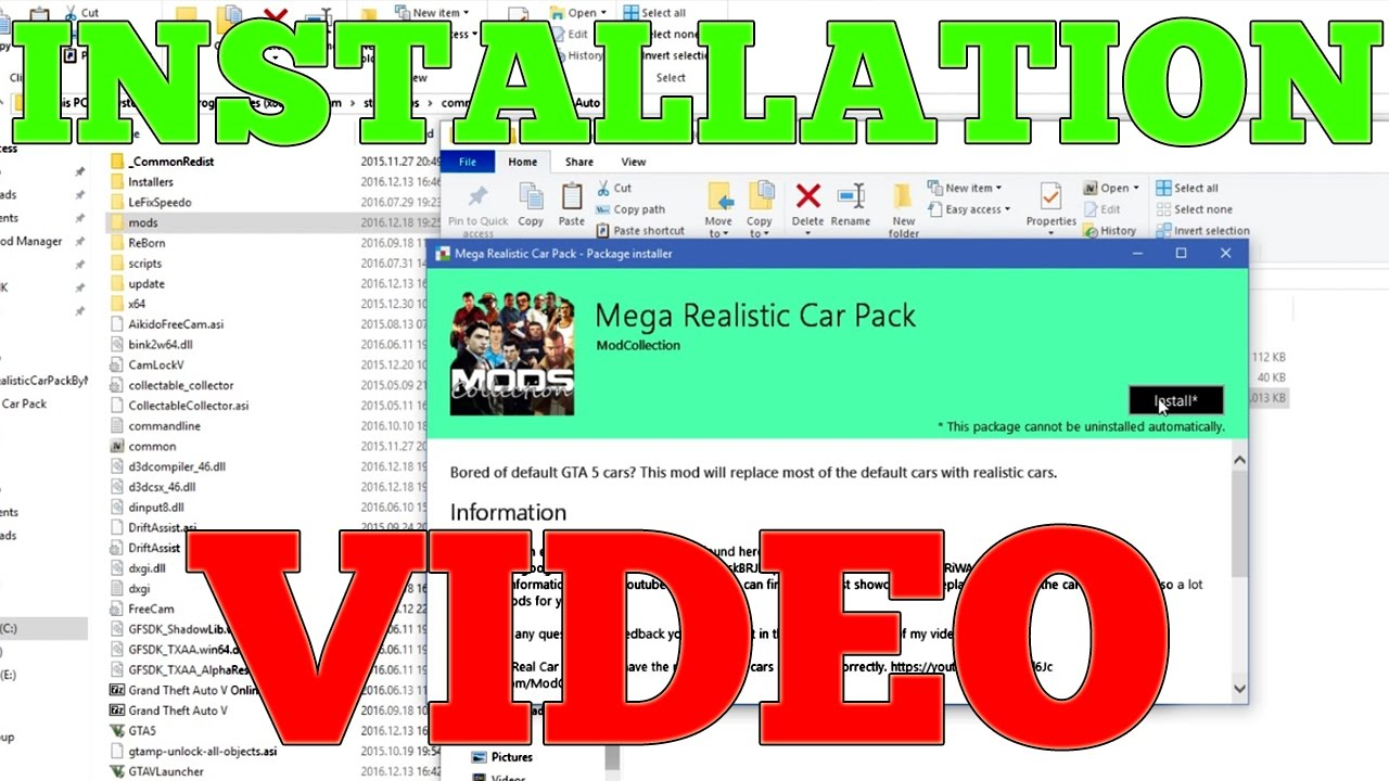 How to Install Mega Realistic Car Pack 4 0: Automatic Installation (310  CARS)